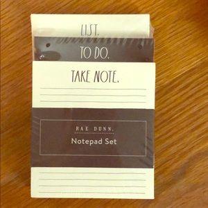 Rae Dunn Notepad Set